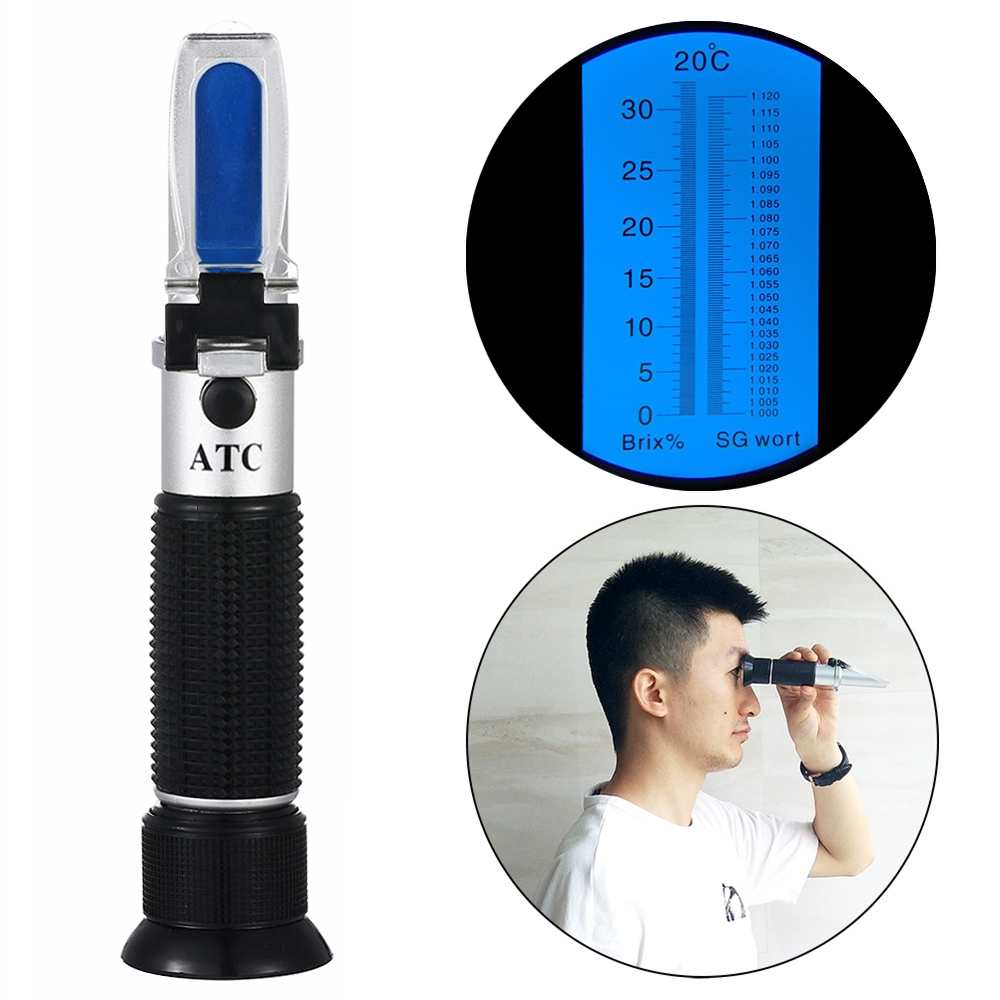 RSG-100ATC Brix & Beer Sugar Wine Wort SG 0-32% Refractometer beer wort and wine refractometer automatic temperature compensation brix 0 32% sugar concentration 50%off