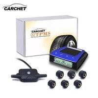 Carchet tpmsタイヤ圧力センサータイヤ空気圧監視システムソーラー電源ワイヤレス車の検出器診断ツール自動警報6センサー� vトレーラ