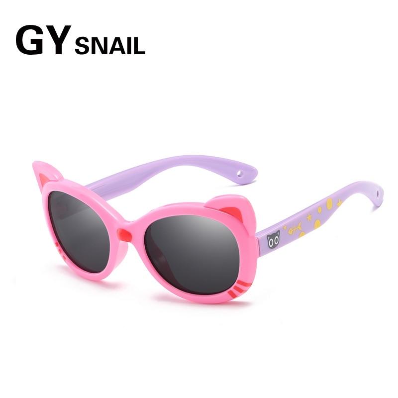 bda79864c8 GYsl Kids Sunglasses Polarized Girls Brand Cat Eye Children Glasses Boys  UV400 Lens Baby Sun glasses Cute Eyewear Shades Goggles-in Sunglasses from  Apparel ...