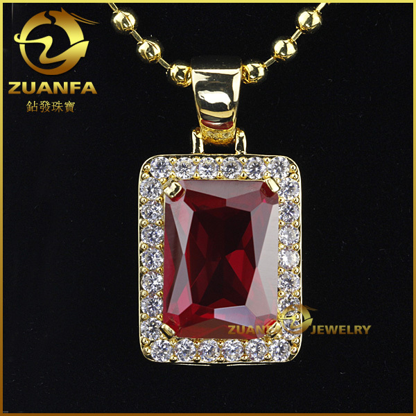 Rick ross style gold plated hip hop ruby pendant in pendants from rick ross style gold plated hip hop ruby pendant aloadofball Gallery