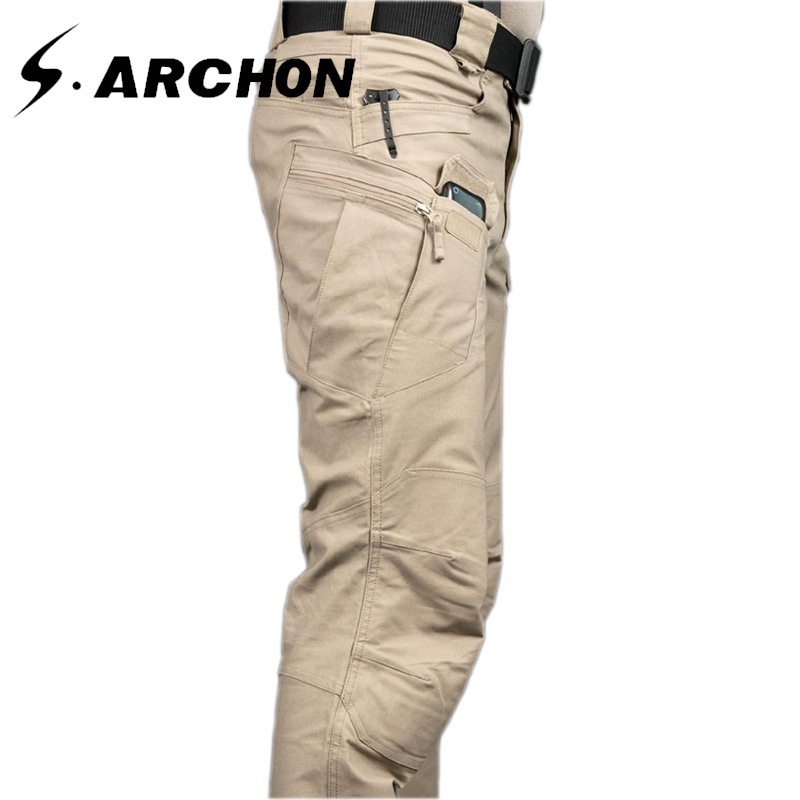 s.archon IX7 City Tactical Cargo Pants SWAT Army Military Pants Outdoor Sports Tactical Camping Hiking Climbing Men's Pants XXXL mens ripstop tactical pants outdoor camping water repllent hiking pants urban sports trousers army green