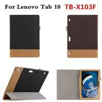 用lenovo tab 10 tb-x103f tb x103f 10.1 '' tablet pcファッションpuレザーcaseパラパラ磁気カバービジネスシェル