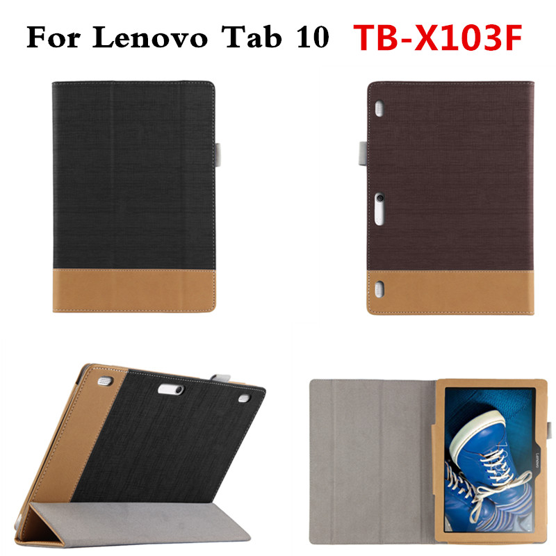 For Lenovo Tab 10 TB-X103F TB X103F 10.1'' Tablet PC Fashion PU Leather Case Flip Book With Magnetic Cover Business Shell classic lichee folio book pu leather case with magnetic folio stand cover for lenovo tab 10 tb x103f x103f 10 1 tablet pc