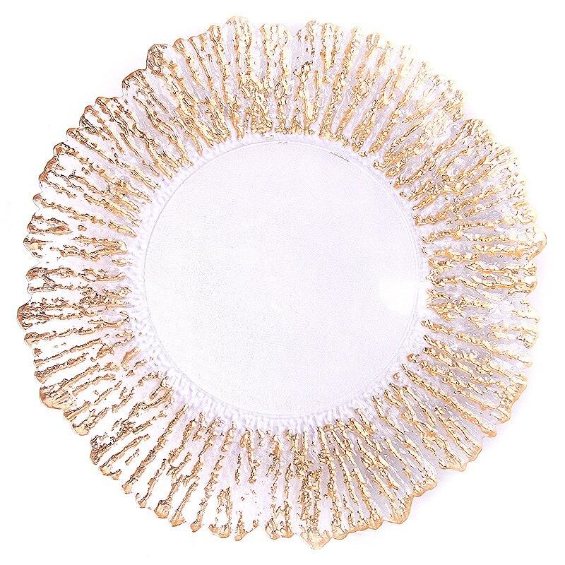 Vaisselle verre doré assiette vaisselle 1 pc