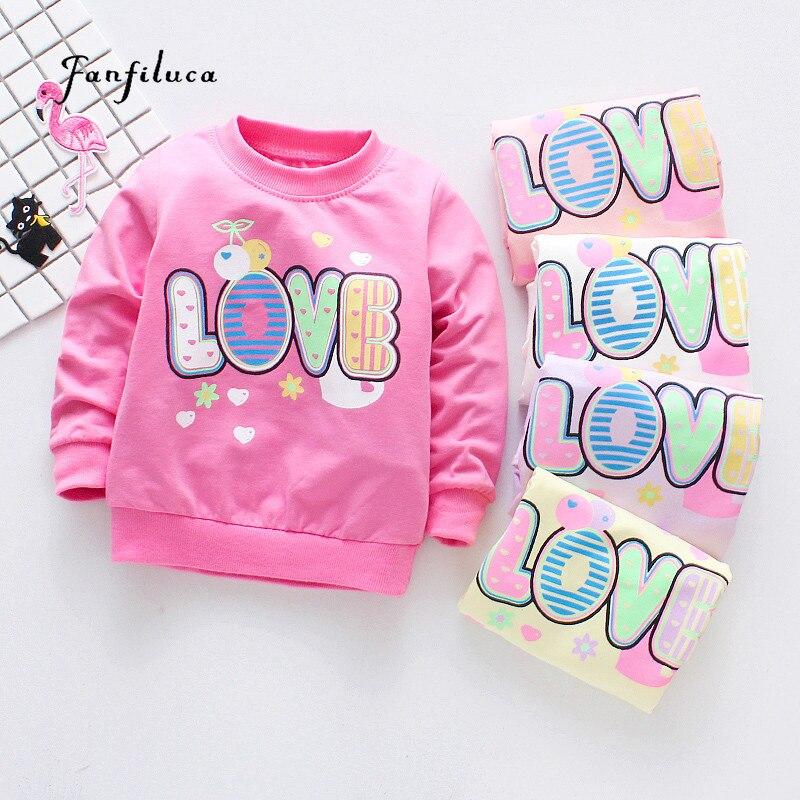 Fanfiluca Girls T-Shirt Autumn Brand Baby Girls Long Sleeve T-Shirt Love Letter Shirts Children Clothing Blouse данилова анна васильевна пожиратели таланта черный пасодобль