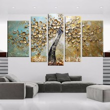 High Quality Abstract Hand Painted White Tree Palette Knife Modern Oil Painting Canvas Wall Living Room Artwork Fine Art