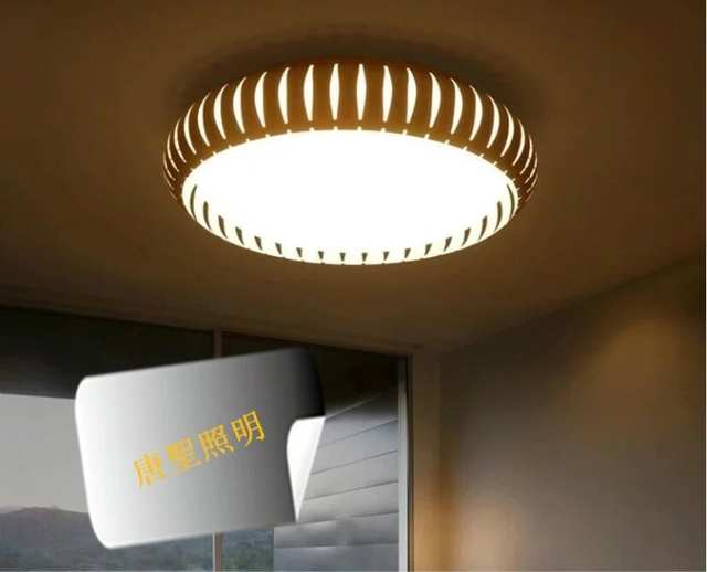 Pumpkin Iron Tricolor Electrodeless Dimming Lamp LED Living Room Bedroom  Ceiling Light The Simplicity Of Modern