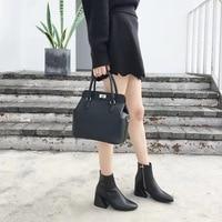 [Hely Coptar] 2017 New Leather Genuine 26cm Milk Box Handbag Shoulder Handbag Luxury Designer High Quality Messenger Bag