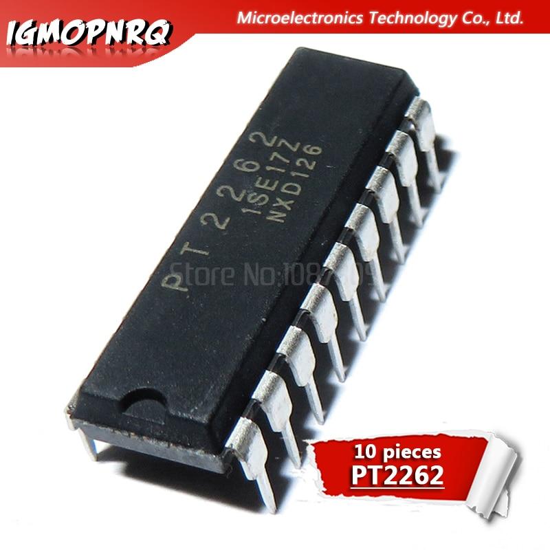 10PCS PT2262  PT 2262 DIP-18 Remote Control Encoder IC