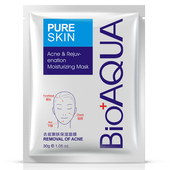 BIOAQUA Acne Treatment Facial Mask Effective Removal Acne Face Mask Moisture Nourishing Oil Control Mask Sheet For Man/Woman