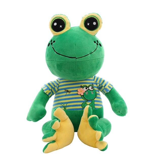 Dorimytrader Kawaii Cartoon Green Frog Plush Toy Giant Stuffed Soft