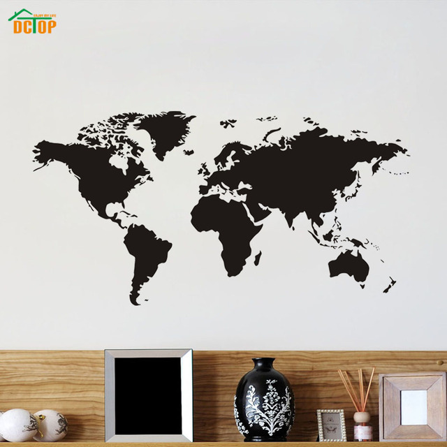 Dctop scratch world map black wall stickers for kids rooms study dctop scratch world map black wall stickers for kids rooms study room removable waterproof adhesive wall gumiabroncs Image collections