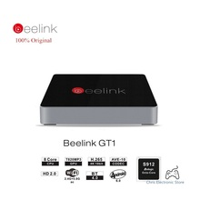 Подлинная beelink gt1 smart android 6.0 tv box amlogic s912 octa ядро H.265 2.4 Г + 5.8 Г Dual WiFi Bluetooth 4.0 2 Г RAM 16 Г ROM