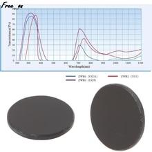 ZWB2 Ultraviolet UV Band Pass Filter Flashlight Diameter 19.5mm Thickness 2mm