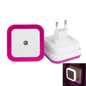 """Image 4 - מיני LED 0.5W לילה אור שליטה אוטומטי חיישן תינוק שינה מנורת כיכר לבן צהוב AC110 220V LED לילה אור עבור תינוק ארה""""ב האיחוד האירופי"""