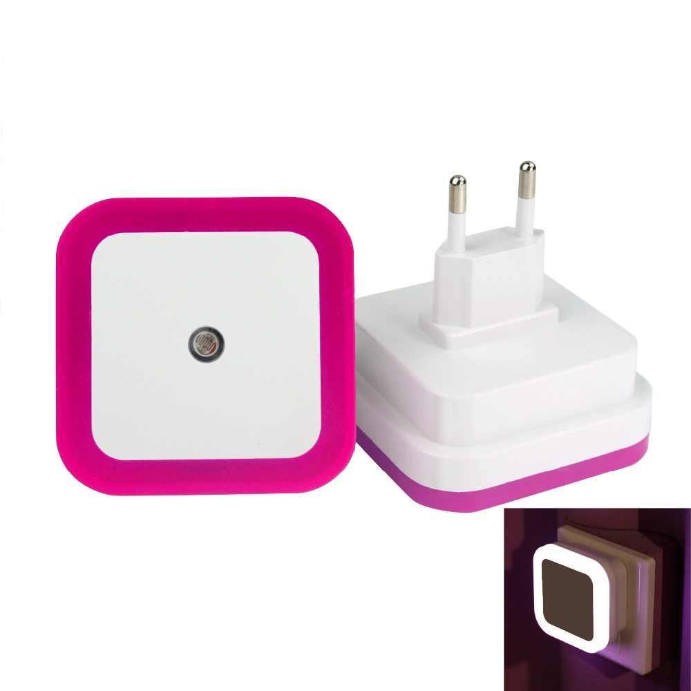 Mini Led 0.5W Nachtlampje Controle Auto Sensor Baby Slaapkamer Lamp Vierkante Wit Geel AC110-220V Led Nachtlampje Voor baby Us Eu