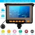 """KKmoon 4.3 """"TFT LCD Da Câmera Kit de Pesca Fish Finder HD 1200TVL Night Vision Sistema de Câmera de Vídeo Subaquático Com 8G Cartão TF"""