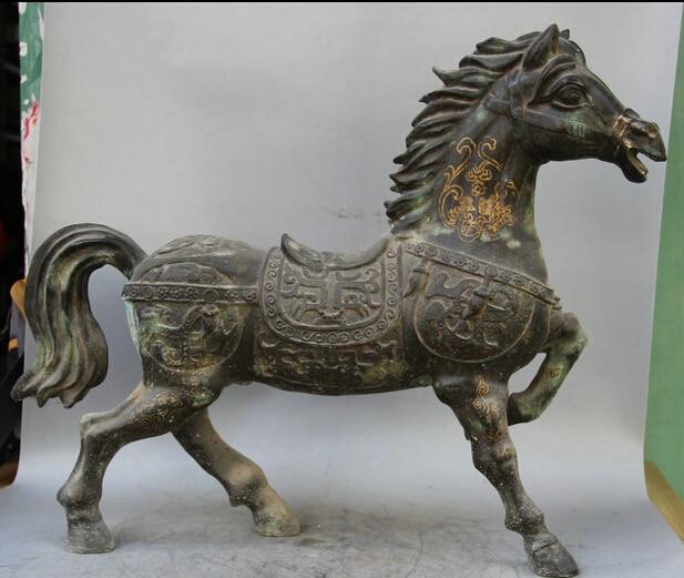 Provided Wunderschöne Alte Schwere Bronze Skulptur Wildes Pferd. Metallobjekte Antiquitäten & Kunst