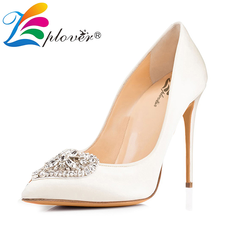 Zplover Plus Size High Heels Shoes Woman Wedding Shoes Black Thin Heel Women Pumps Flock High Quality Women Shoes Zapatos Mujer hot sale new fashion luxury real leather women thick heel pumps flock mix color wedding shoes woman flock sexy elegant pumps