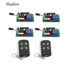 wireless relay 110v remote control switch,10A Relay 1CH Wireless RF Remote Control Switch 1 Transmitter+4 Receiver 315MHz 433MHz