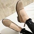 Aiweiyi novas mulheres sapatos da moda retro estilo dedo do pé redondo de salto baixo sapatos de Volta Zip Mulheres Casuais Bombas de Festa de Casamento Tamanho Shoes 34-43