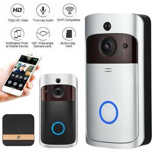 Image 1 - Smart IP wideodomofon bezprzewodowy dostęp do internetu wideo telefon drzwi dzwonek do drzwi wizjer wbudowaną kamerą WI FI do mieszkania IR alarmu bezprzewodowa kamera do monitoringu