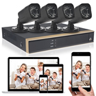 High Quality HD 1080N 4CH Full 720P AHD DVR Security System 4TB Hard Drive 4* Outdoor Camera