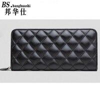 2016 Fashion Long Paragraph Sheepskin Wallet Leather Lingge lock wallets Holding Women's bag