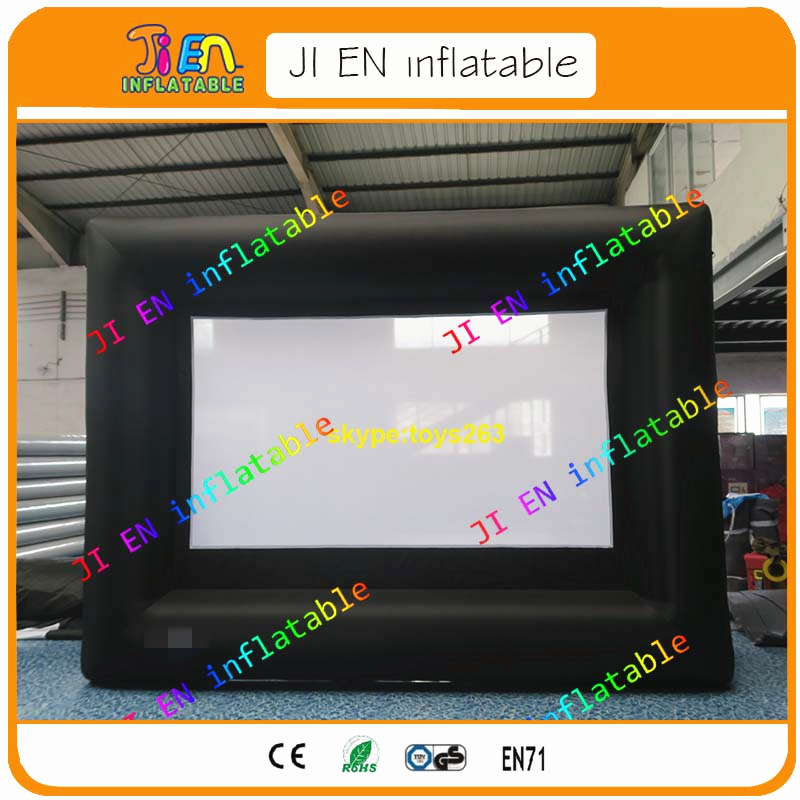 free air shipping 120inch inflatable screen, outdoor movie ...