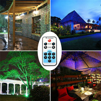 SXZM Led Starry Projector Laser Lights Motion With Remote Controller Red Green Outdoor Decoration Christmas Garden