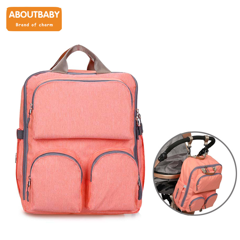 AboutBaby Nappy changing bag for stroller baby care Large capacity maternity bag Travel Backpack mochila maternidadeAboutBaby Nappy changing bag for stroller baby care Large capacity maternity bag Travel Backpack mochila maternidade
