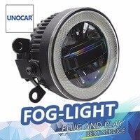 UNOCAR Car Styling LED Fog Lamp For Renault Megane DRL Certificate Fog Light High Low Beam