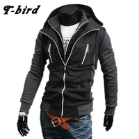 T Bird 2017 Hoodie Men Cardigan Sweatshirt Hip Hop Mens Brand Fake Two Pieces Hoodies Winter