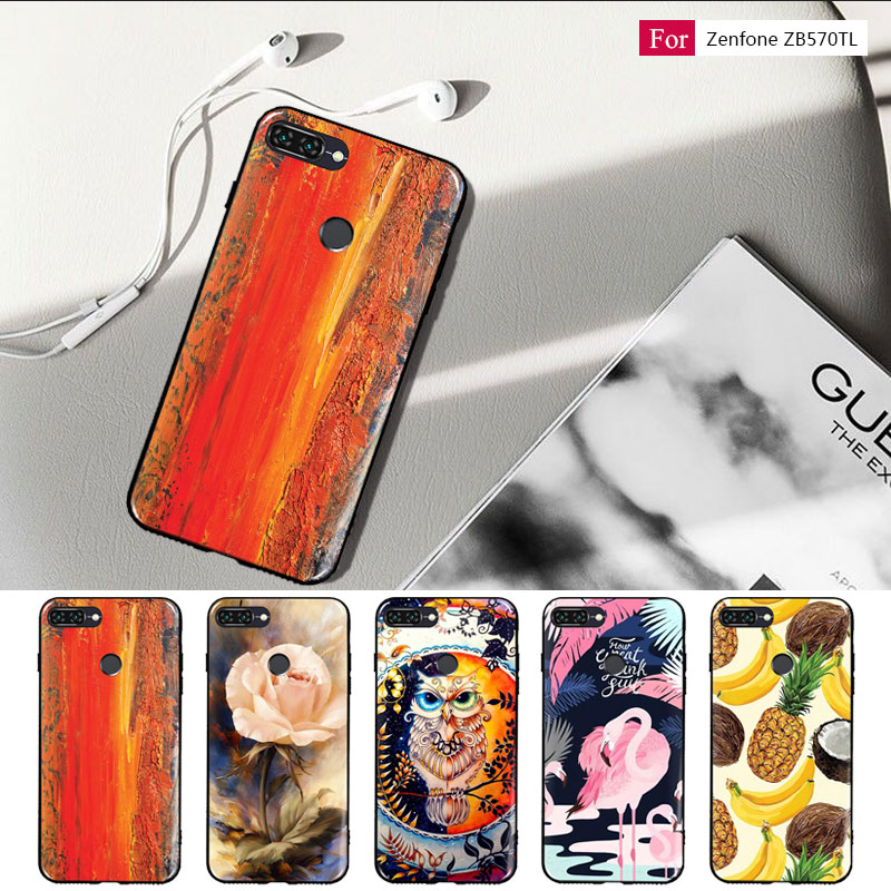 For Asus ZenFone Max Plus M1 ZB570TL Case,Silicon Flower Painted Painting Soft TPU Back Cover for Asus  ZB570TL  Phone case
