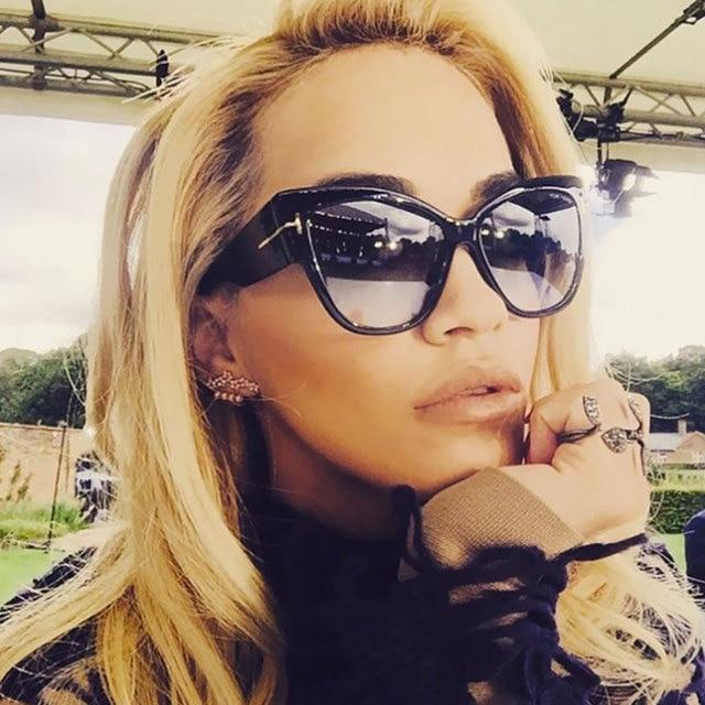 51ab4a0e3f1 2018 Luxury Brand Designer Cat Eye Sunglasses Women Vintage Retro Sunglass  Female Sun Glasses For Women Ladies Sunglass Mirror