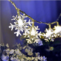 2016 Hot Sale 220V 10M 50LED Christmas lights snowflake lamp holiday lighting wedding party decoration curtain string lights