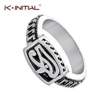 Kinitial Fashion Finger Ring Engrave Egypt Eye of Horus Wedding Bands Ring Punk Jewelry Tattoo Biker Rings For Men Drop Shipping(China)