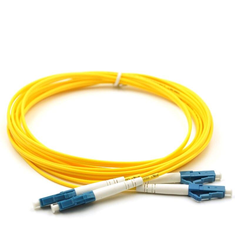 100 м LC-LC дуплекс, волоконно-оптический кабель патч-корд, LC к LC, одномодовый