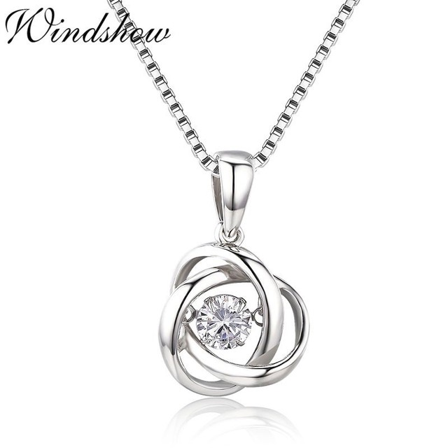35cd894bf2aed US $5.93 34% OFF|Cute 925 Sterling Silver Sparkling Dance Endless Circle  Mobius CZ Charms Pendant Necklace Women Girls Friend Jewelry Bijoux Gift-in  ...