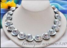 00046 серый Южное море Mabe жемчужное ожерелье AAA