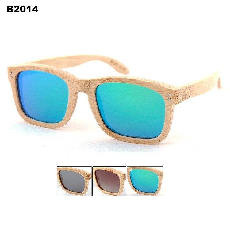 2015 font b New b font Arrival Handmade Natural Bamboo Polarized Sunglasses Mirror Coating TAC polarized