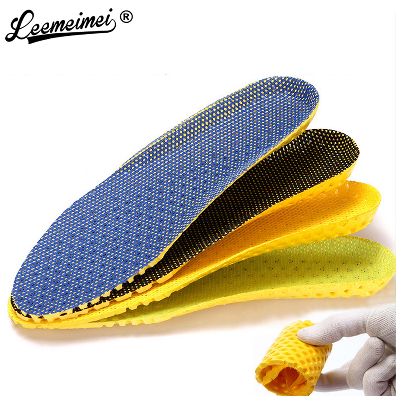 Free Shipping Sponge 1 Pair Shoes Pads Heel Cushion light weight breathable men &women Insoles Foot Massager