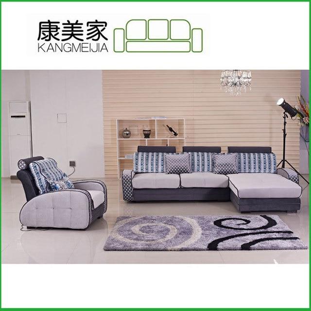 Factory Direct Customized Minimalist Modern Modular Living Room Furniture  Desks Contrast Color Fabric Sofa 1025 #