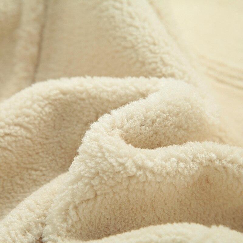 Manteaux Cachemire Fourrure Luxe Polaire Chaud camel Mouton Brun Khaki Parka De D'hiver coffee navy En Mince Peau Outwear Manteau Veste Faux Hommes qE8tzaa
