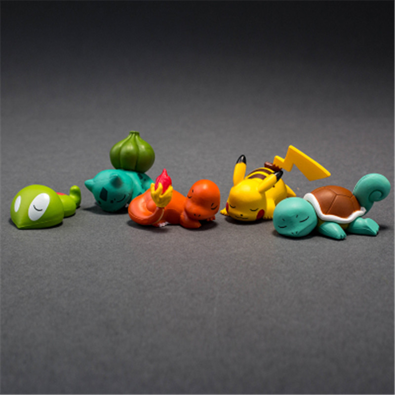 Image 4 - TAKARA TOMY POKEMON Sleeping Series Pika Squirtle Charmander Bulbasaur Action Figure Toys Collections Gifts Toys for Children-in Action & Toy Figures from Toys & Hobbies