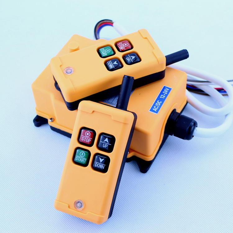 HS-4 Industrial Remote Control switch 4 keys 1 receiver+ 2 transmitter AC 220V 220VAC 1pcs hs 4 ac110v 4 keys control industrial remote controller 2 transmitter 1 receiver