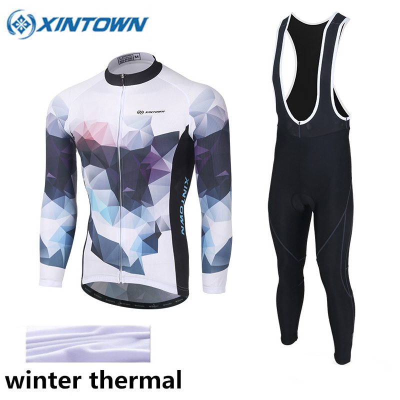XINTWON 2017 Cycling Jerseys Cycling Set Winter Thermal Fleece Long Sleeves Racing MTB Suit Maillot Bike Clothing Ropa Ciclismo