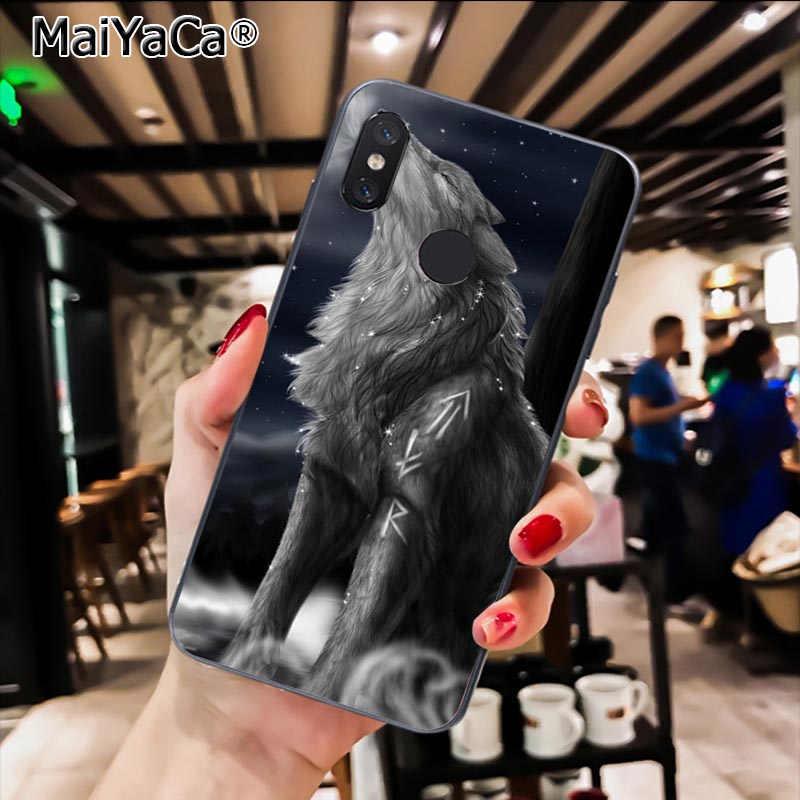 MaiYaCa קסום בעלי החיים זאב צבי DIY צבוע טלפון מקרה עבור Xiaomi Redmi4X 6A S2 ללכת Redmi 5 5 בתוספת Note4 note5 7 Note6Pro