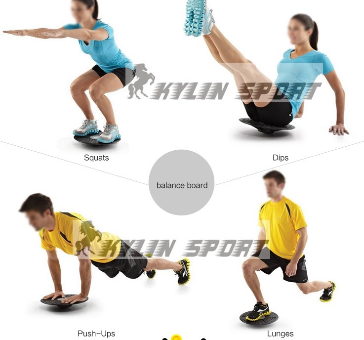 Yoga, health massage, running exercise balance board sense of balance pedal system rehabilitation training fitness sports equipm new yoga pilates exercise high density eva foam massage roller fitness home gym massage
