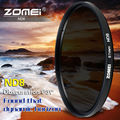 Zomei delgado filtro de densidad neutra nd8 nd 2/4 8 52mm 55mm 62mm 67mm 72mm 72 filtro nd 77mm para canon sony cámara pentax dslr lente